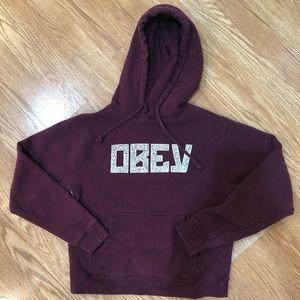 Maroon obey hoodie